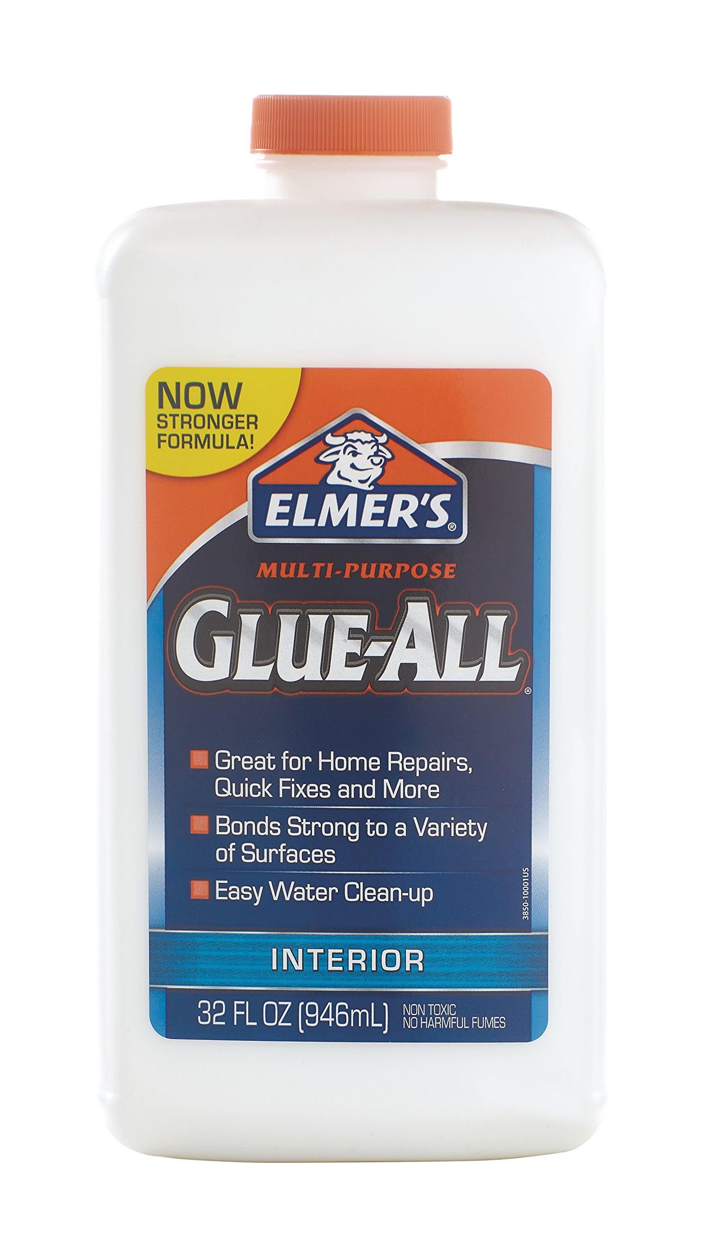 Elmer's Glue-All Multi-Purpose Liquid Glue, Extra Strong, 32 Ounces, 1 Count (E3850)