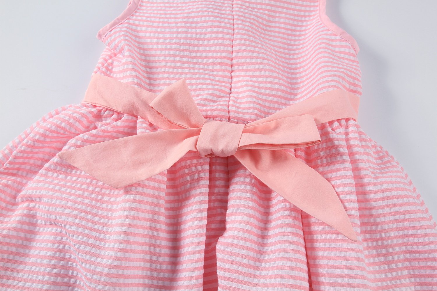 Sharequeen Striped Cotton Big Girls Summer Dress Dog Bird Cat Embroidery Pink Color A090(Pink Stripe, 6 Years) by Sharequeen (Image #6)