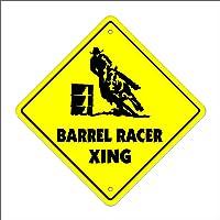 "Barrel Crossing Sign Zone Xing | Indoor/Outdoor | 12"" Tall New Rodeo Cowboy hat Horses Roping Racing Calf"