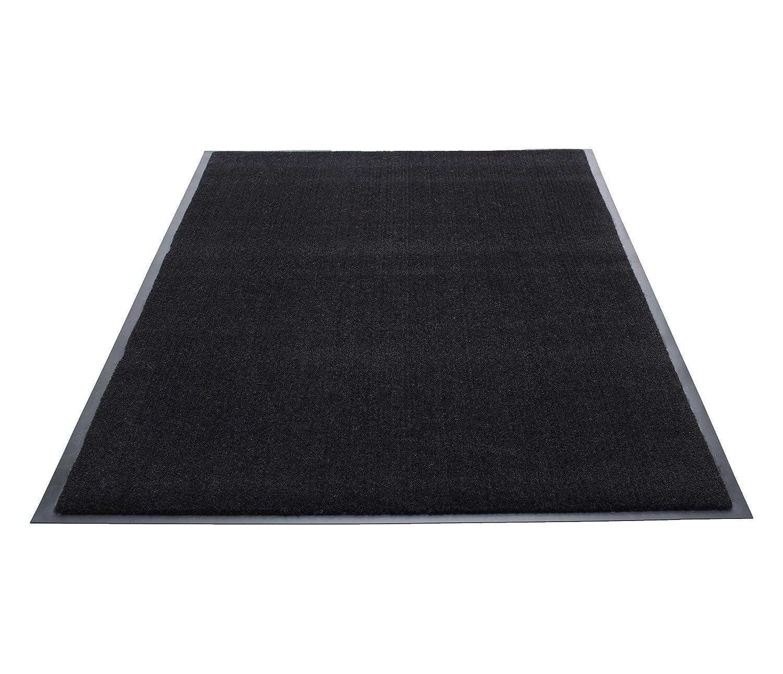 Guardian Silver Series Indoor Walk-Off Floor Mat, Vinyl/Polypropylene, 4'x6', Black