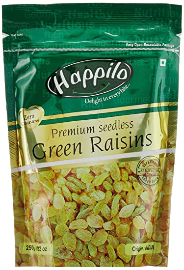 Happilo�Premium Indian Seedless Raisins, 250g (Pack of 4)