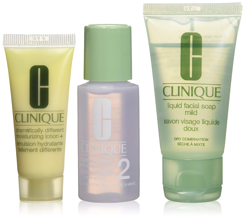 Clinique 軽度のコンビネーションスキン B00Y792UCG、リキッド洗顔石鹸を乾燥させるために非常にドライ(1オンス)+明確ローション2(1オンス)+劇的に異なるモイスチャライジングローション+に設定された3つのステップトラベルサイズ(0.5オンス) Clinique B00Y792UCG, フロアマット専門 MAT THE CLASS:5bbd264d --- forums.joybit.com