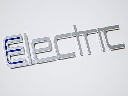 Ev electric car 3d chrome bumper sticker decal emblem for chevrolet volt nissan leaf