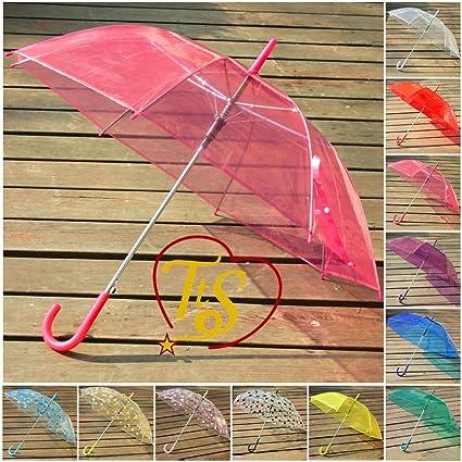 Time to Sparkle Cubresillas 3pcs gran claro cúpula paraguas transparente, damas de honor automático paraguas