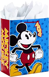 "Hallmark 13"" Large Disney Gift Bag with Tissue Paper for Birthdays, Baby Showers, or Any Occasion (Mickey Mouse)"