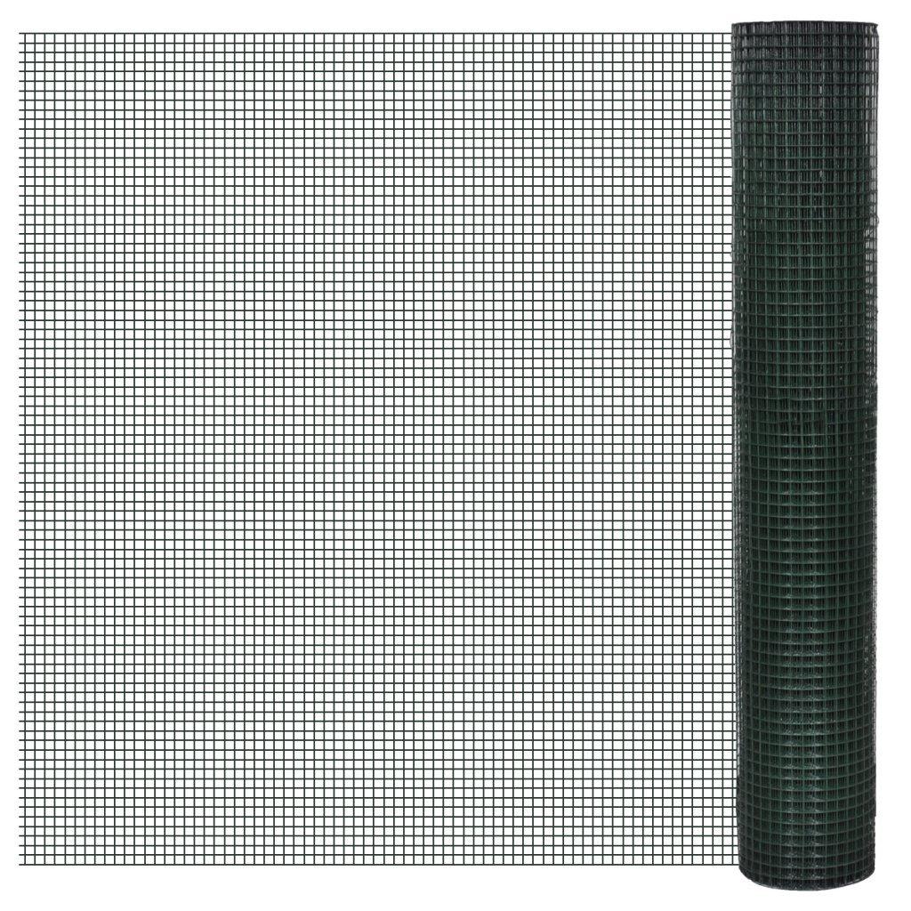 vidaXL Drahtgitter Maschendraht 4-Eck Volierendraht verzinkter Stahl mehrere Auswahl