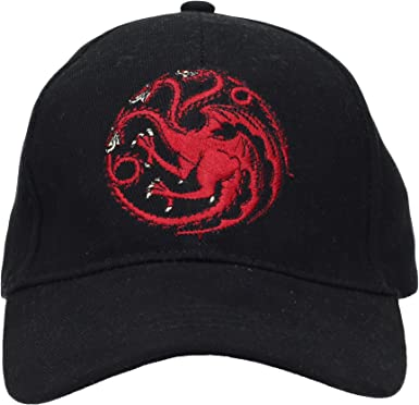 SD toys Targaryen Game of Thrones Gorra de béisbol, Negro, U ...