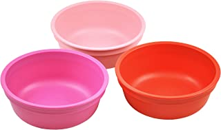 product image for Re-Play Made in USA 3pk 12 oz. Bowls in Red, Bright Pink and Blush | Made from Eco Friendly Heavyweight Recycled Milk Jugs and Polypropylene - Virtually Indestructible (Valentine)