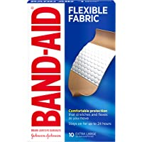 Band-Aid Dhesvie Bandages Flexible Fabric, Extra Large, 10 Count