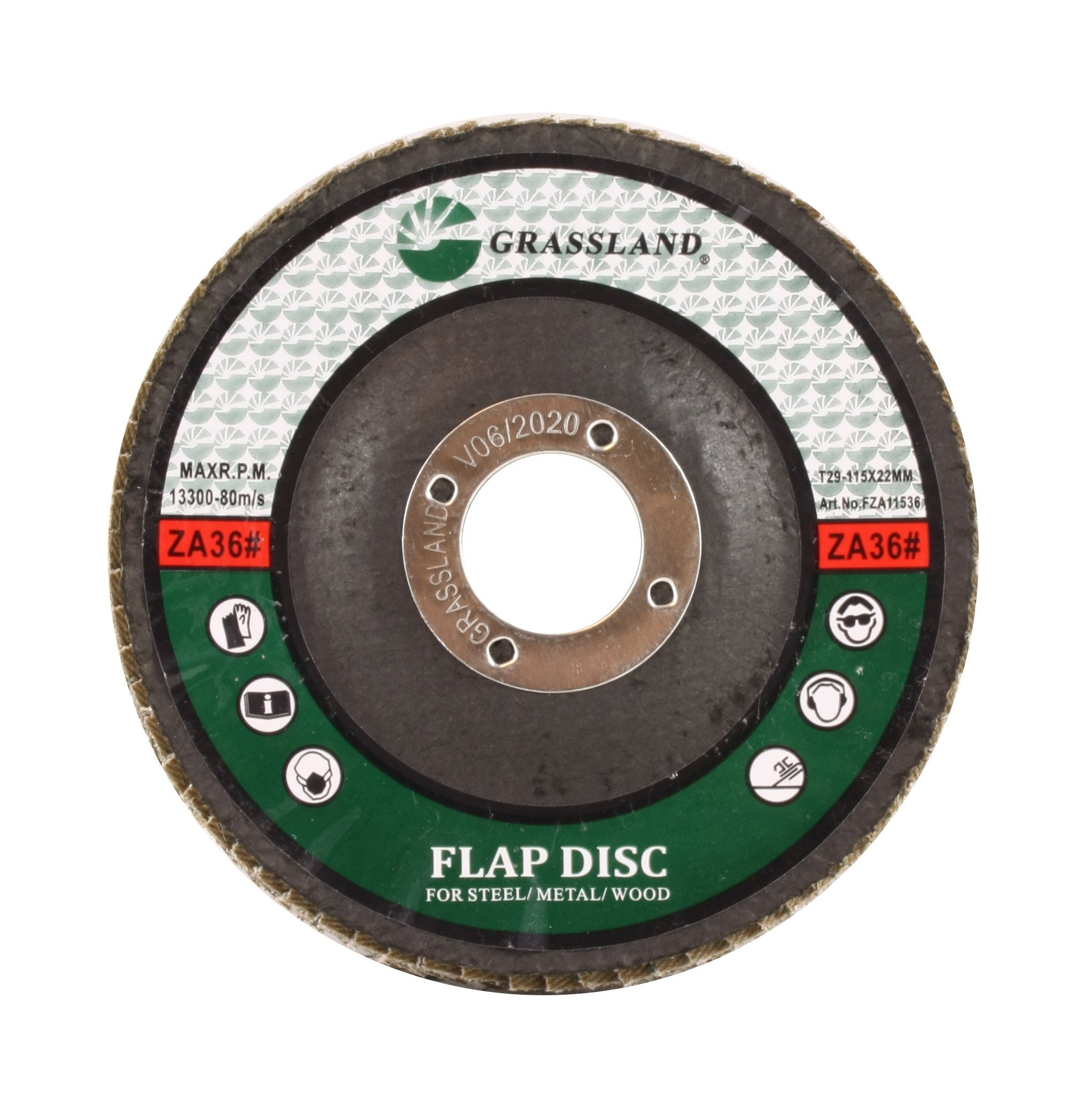 Sanding Disc, Zirconium Flap Disc, Grinding Wheel 4-1/2'' x 7/8'' 36 Grit - T29 - (25 Pack)