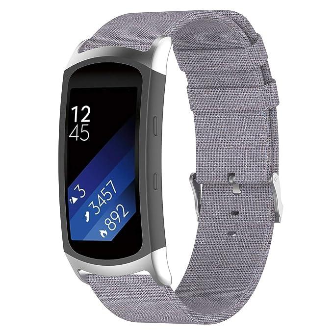 Huamecl Samsung Gear Fit 2/Gear Fit2 Pro Correas de Woven ...