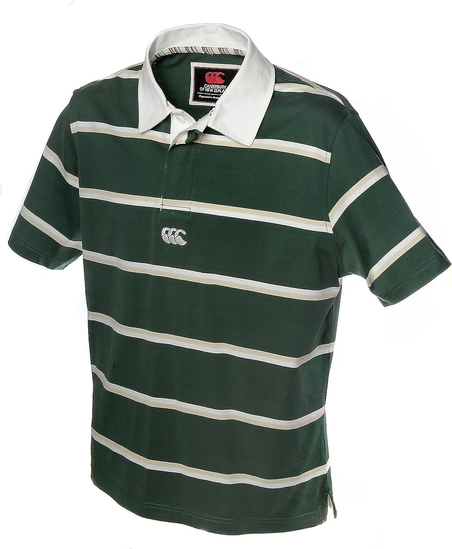 Camiseta de Rugby Canterbury Polo de rayas, verde claro y blanco: Amazon.es: Deportes y aire libre