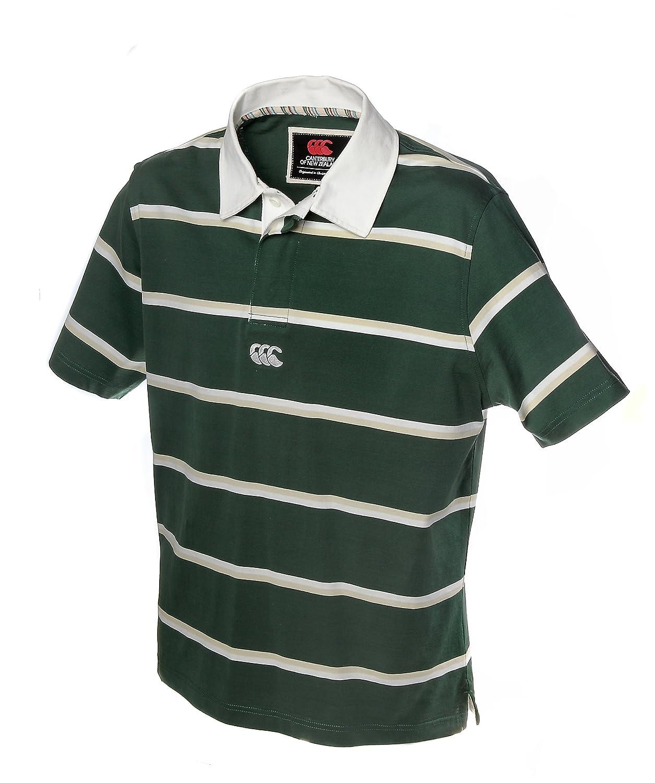 Camiseta de Rugby Canterbury Polo de rayas, verde claro y blanco ...
