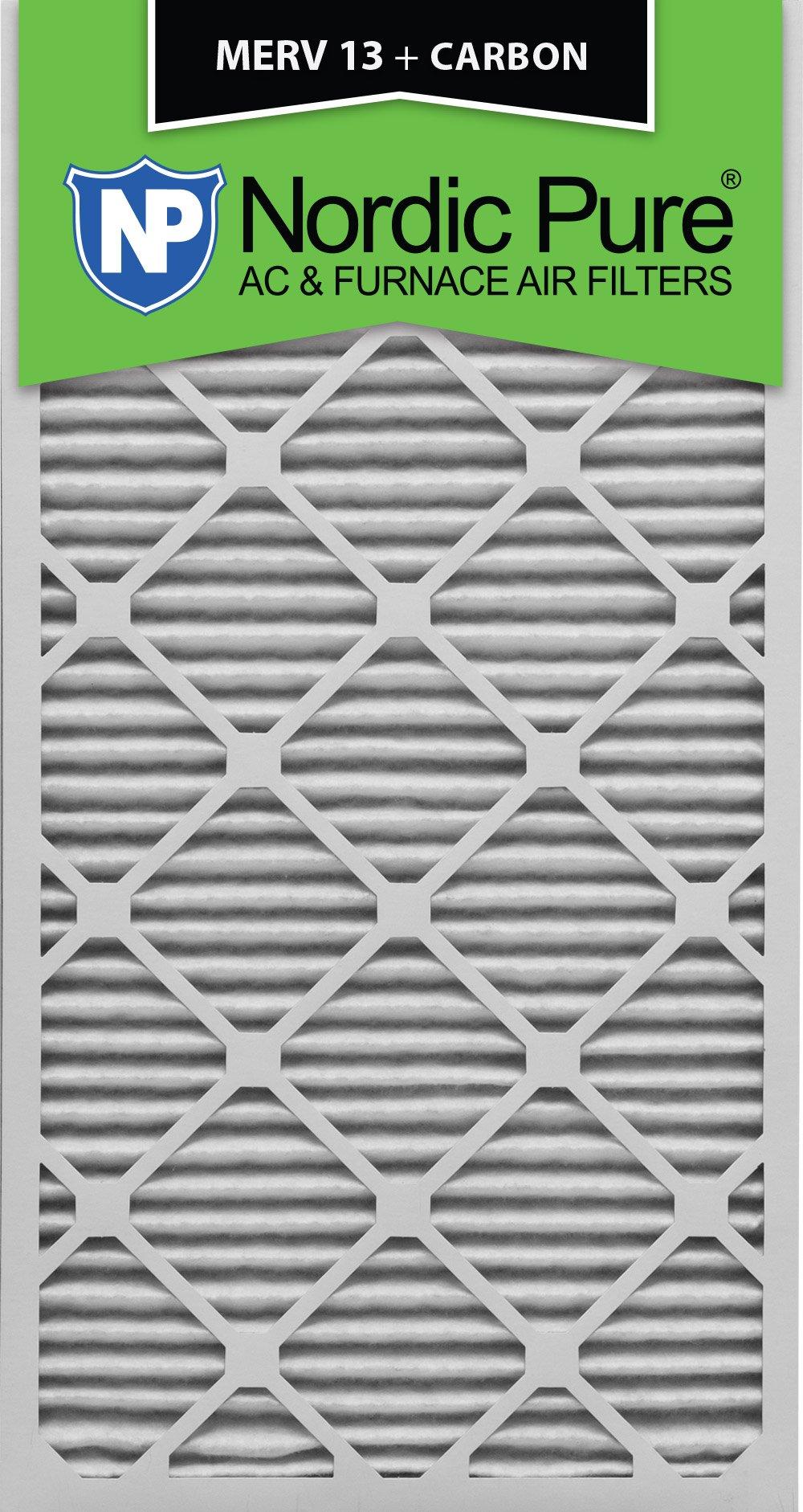 Nordic Pure 20x30x1M13+C-6 MERV 13 Plus Carbon AC Furnace Air Filters, Qty-6