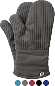 BIG RED HOUSE Oven Mitts, with The Heat Resistance of Silicone and Flexibility of Cotton, Recycled Cotton Infill, Terrycloth