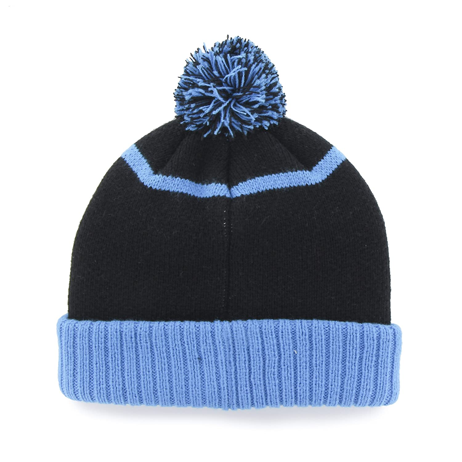 Carolina panthers linesman cuff knit beanie with pom one size black sports  outdoors jpg 1500x1500 Lids 7b7e799b11d4