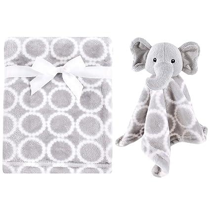 Gray Elephant Hudson Baby Animal Friend Plushy Security Blanket