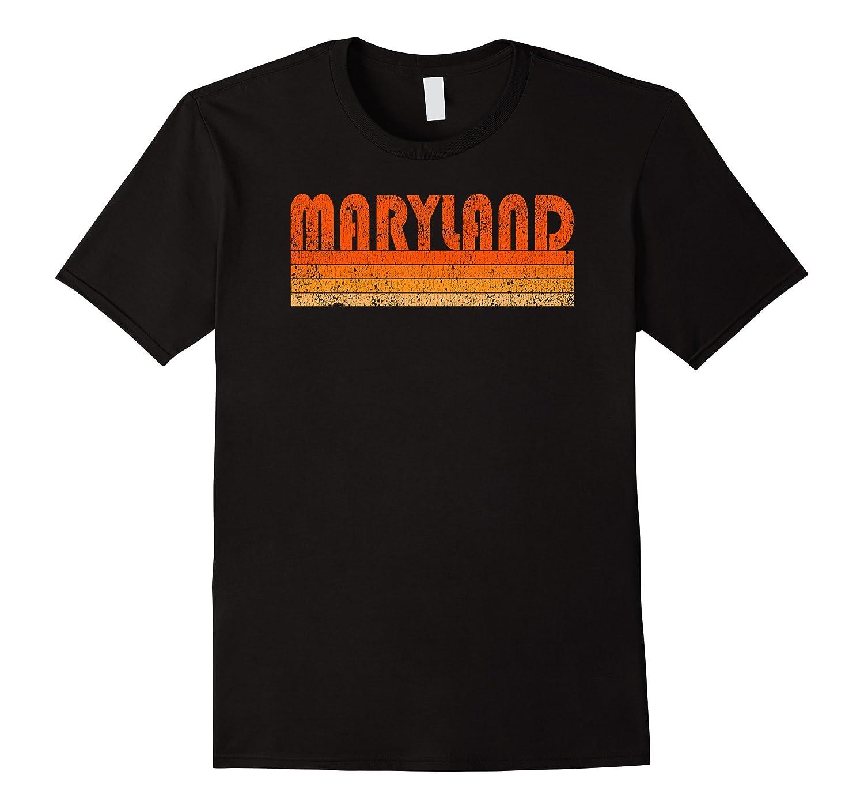 Retro Grunge Maryland USA T Shirt-ANZ