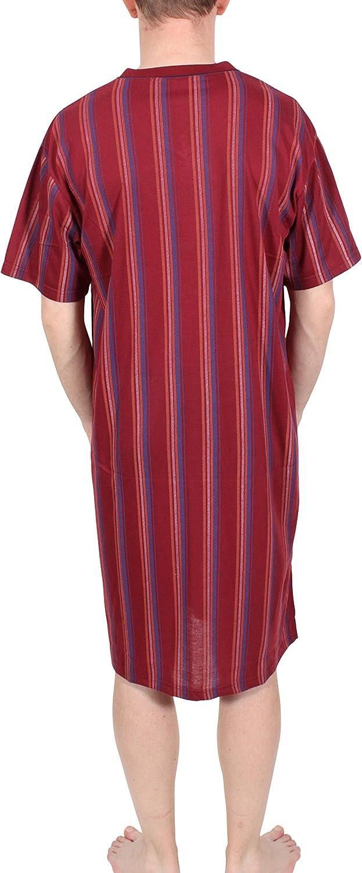 L XL XXL XXXL Camicia da notte mr manica corta 100/% Cotone