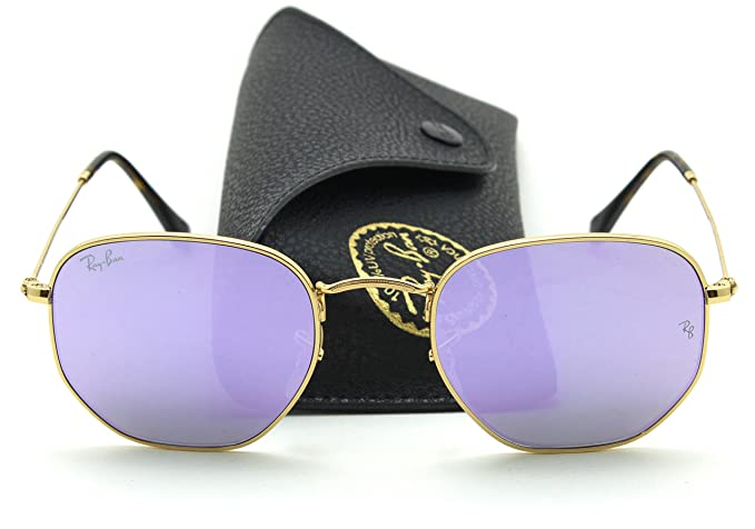 Image Unavailable. Image not available for. Colour  Ray-Ban RB3548N  HEXAGONAL FLAT LENSES Sunglasses Lilac Flash Lens 001 8O, 51 a13bf9aad7