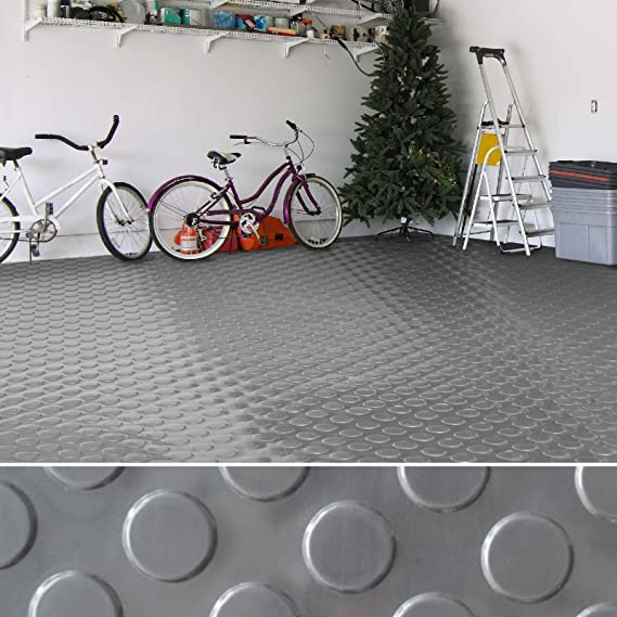 2,2 mm St/ärke Flachnoppen PVC Bodenbelag gewerbliche R/äume uvm   viele Farben /& Gr/ö/ßen rutschhemmender Belag f/ür B/öden in Werkstatt grau - 120x100 cm Garage