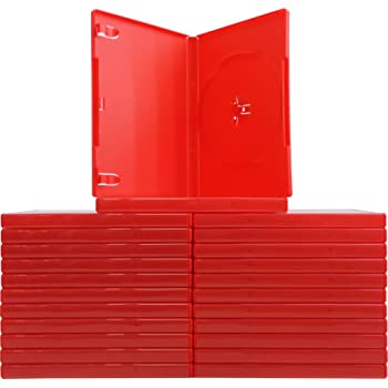 amazon com 25 standard solid red color single dvd cases home audio