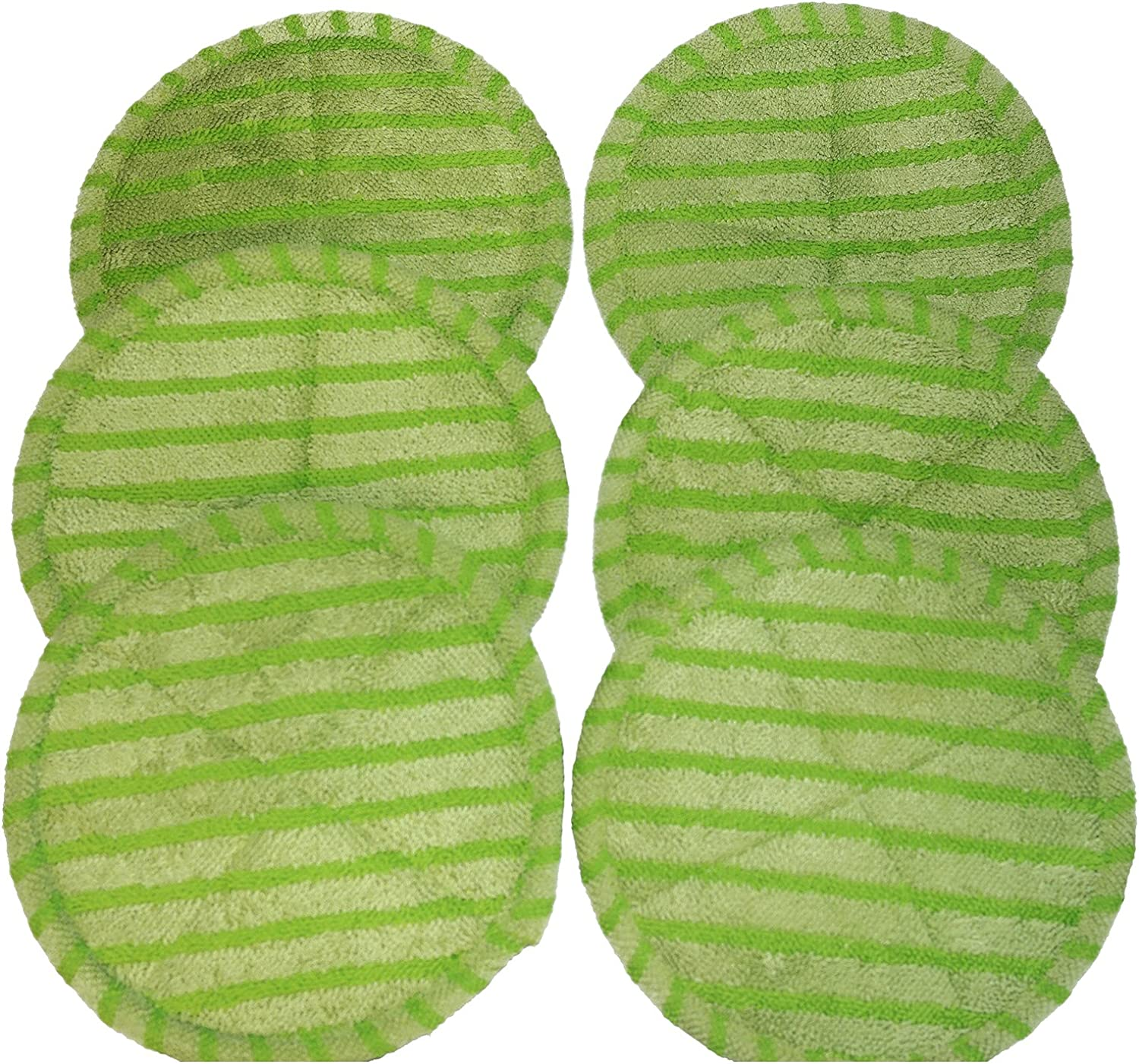 Elicto Electronic Dual Spin Mop and Polisher Replacement Mop Heads (3 Sets (Green))
