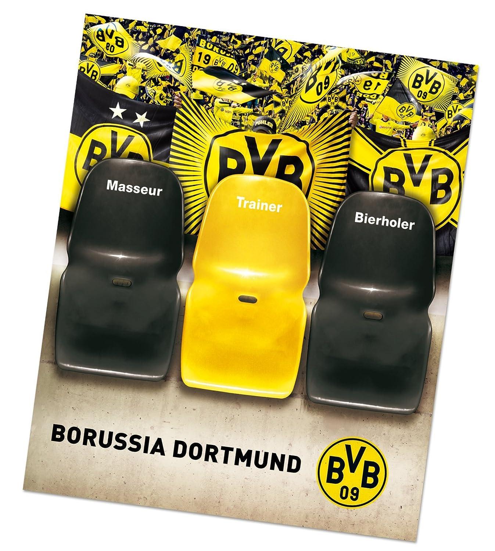 Borussia Dortmund Sofaüberzug / Tagesdecke / Couchschoner / Decke - Trainerbank BVB 09 - plus gratis Aufkleber forever Dortmund Borussia Dortmund - BVB 09