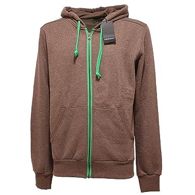 best sneakers bf6ad 9a897 JOE RIVETTO 5211Q Felpa Uomo Marrone Brown Sweatshirt Men ...