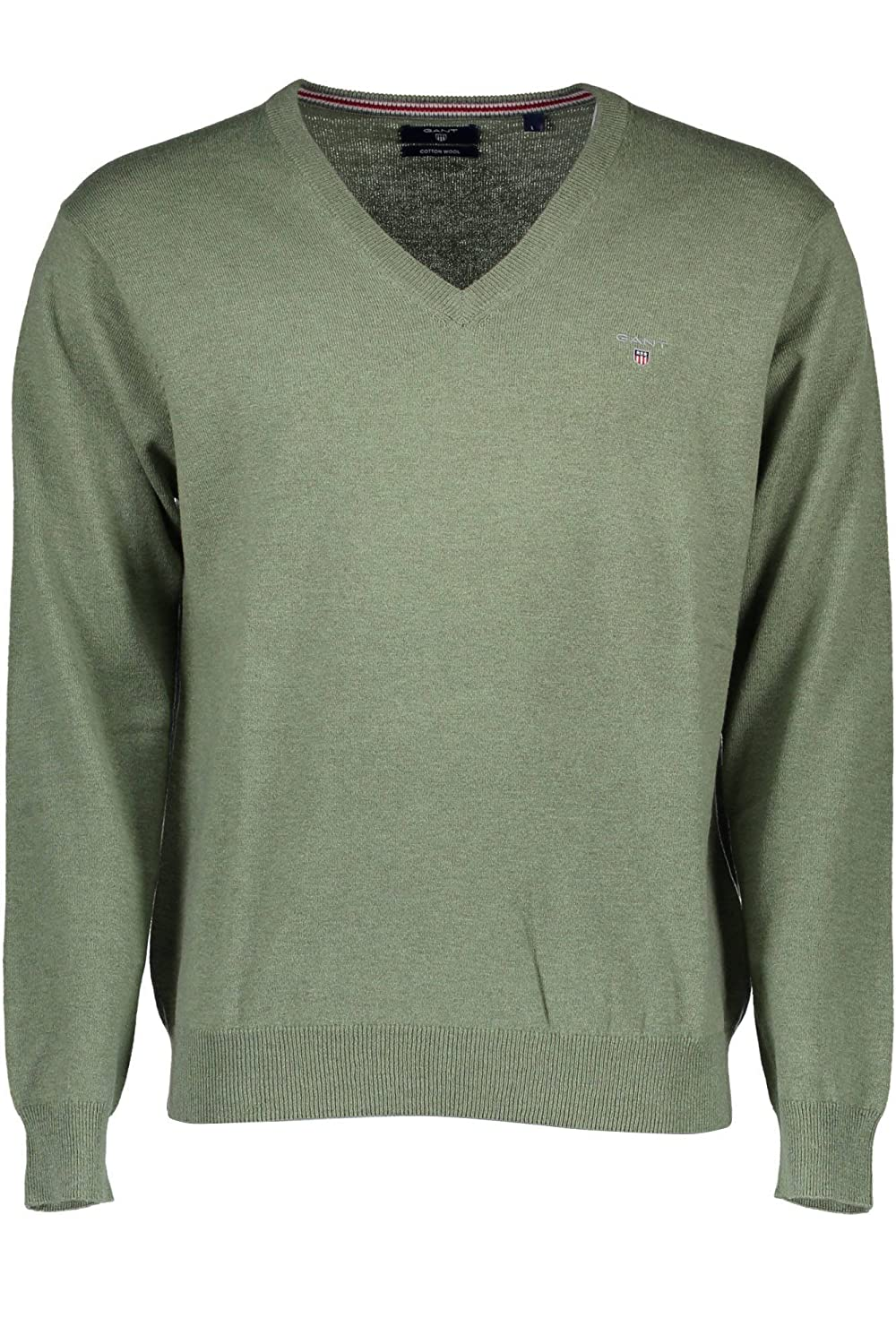 Gant Men's Cotton Wool Long Sleeve V-Neck Jumper 83102