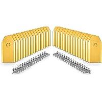 lohag® Reservemessen voor robotmaaier, 30 stuks, titanium incl. schroeven, set voor Husqvarna Automower, Gardena, Yard…
