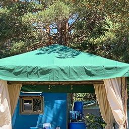 Sekey Toldo para Gazebo/Plegable Tienda de campaña/Tienda al Aire Libre, Taupe, Revestimiento Impermeable, con ventilación, 2.96 x 2.96 m: Amazon.es: Jardín
