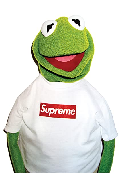 Fotojig Kermit The Frog X Supreme A1 Large Icon Poster Rare Co Uk Kitchen Home