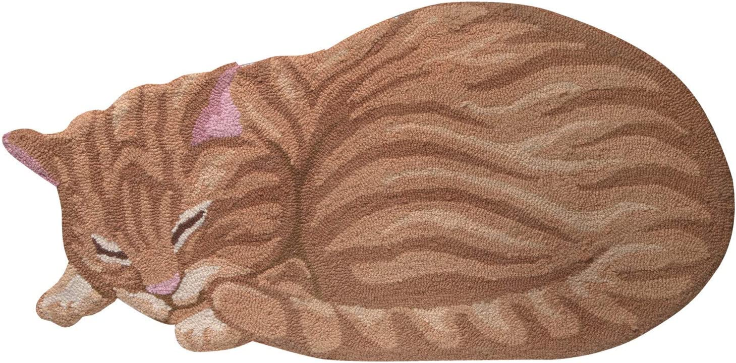 Cat Shaped Throw Rug