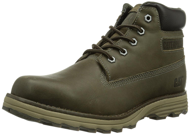 Caterpillar Founder Mens Leather Ankle Boots Brown [並行輸入品] B00IZJ41SA 25.0 cm|ブラウン ブラウン 25.0 cm