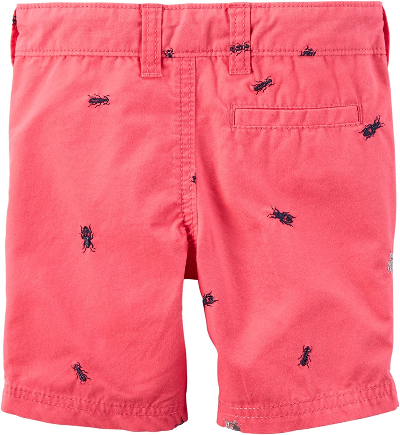 12 Months Pink Carters Baby Boys Schiffli Flat-Front Shorts Bugs