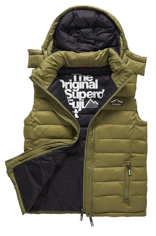 Superdry Herren Outdoor Weste Fuji Double Zip Hooded Vest