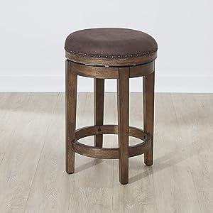 Liberty Furniture Industries Aspen Skies Swivel Barstool, W17 x D17 x H25, Light Brown