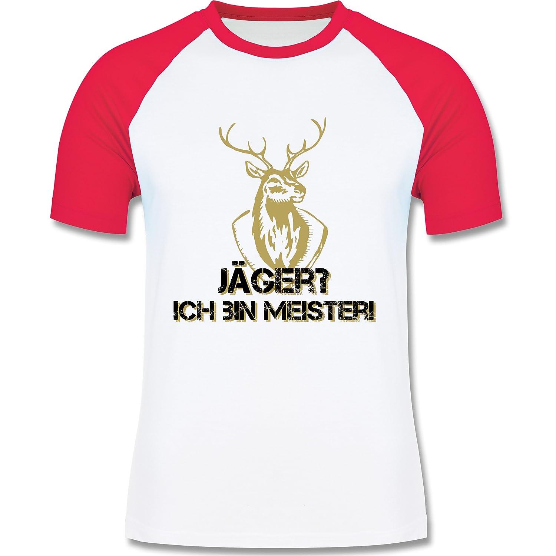 Après Ski - Jäger? Ich bin Meister! - zweifarbiges Longsleeve / Baseballshirt für Männer