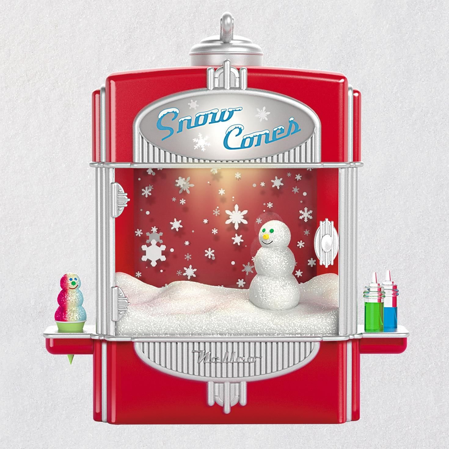 Hallmark Keepsake Christmas Ornament 2018 Year Dated, Syrupy Snow Cone Surprise With Music, Light and Motion