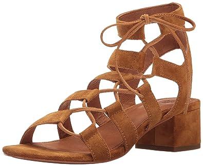 FRYE Women's Chrissy Side Ghillie Dress Sandal, Cognac, ...