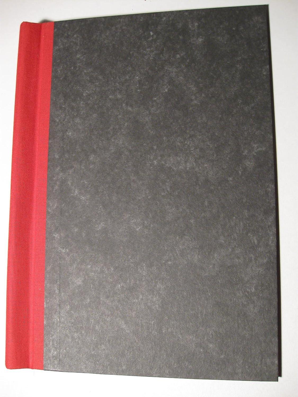 WB-Klemmbinder-A4-30mm, Deckel marmoriert, Rücken rot Rücken rot