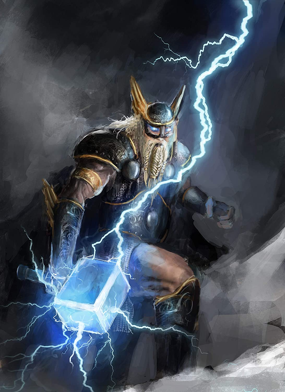 Amazon Com The Thunder God Thor With His Magic Hammer Mjolnir