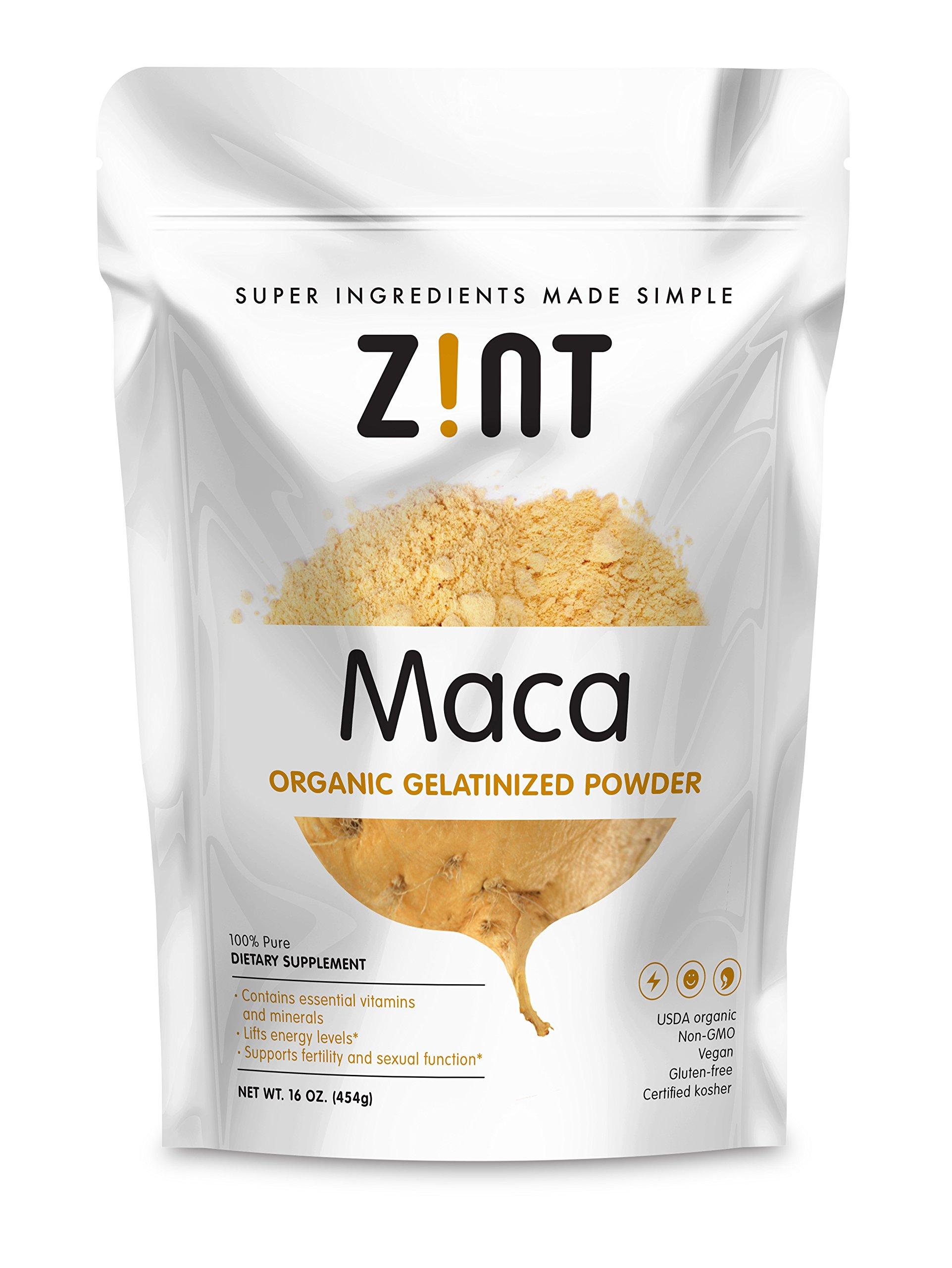 Zint Maca Organic Powder, 16 Ounce