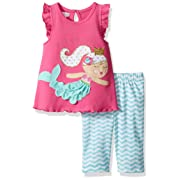 94681d2dd4e Mud Pie Baby Toddler Girls  Two Piece Pants Set Sleeveless