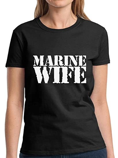 5ad4a006 Amazon.com: Vizor Marine Wife Tshirt Proud Wife Shirts Valentine's Day  Tshirts For Women Marine Wife Gifts For Her: Clothing