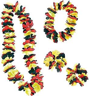 Hawaii-Ketten Hula Blumen-Ketten Motto-Party JGA Deko Auto Fun Orange 24 Stk