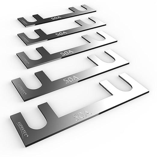 2 opinioni per Auprotec® fusibile a nastro 30A- 150A fusibili stripe selezione: 50A Ampere, 5
