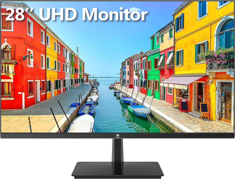 Z-Edge U28I4K 28-inch Gaming Monitor Ultra HD 4K 3840x2160 IPS LED Monitor, 300 cd/m², 4 ms Response Time, HDMI+DP+Type-C+USB-B+USB2, Built-in Speakers, FreeSync Technology