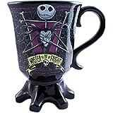 Silver Buffalo NB6895 Disney Nightmare Before Christmas Misfit Love Goblet 3D Sculpted Ceramic Mug, 20 oz, Multicolor